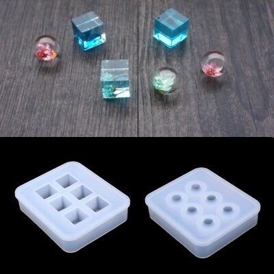 8Pcs Assorted DIY Earrings Silicone Mold Jewelry Pendant Bracelet Resin Cast hgf