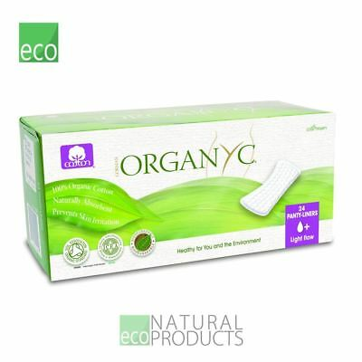 Organyc Organic Panty Liners Flat Light Flow 24per pack
