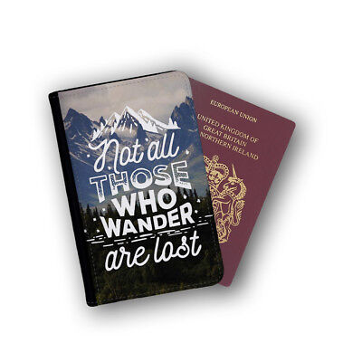 Not All Those Who Wander Are Lost Tolkien Passport Holder Travel Flip Cover Case