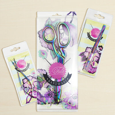 In Stock - Tula Pink Hardware - Set Of 3 Shears, Snips And Seam Ripper