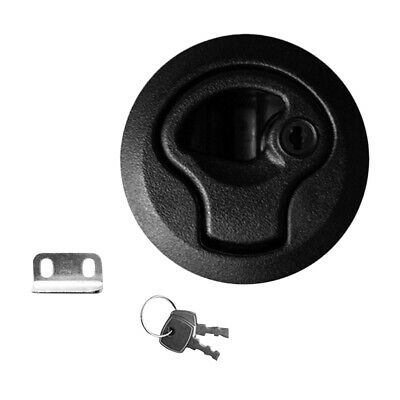 "2"" Slam Latch Hatch Round Pull with Lock Keys 1/4'' Door for Marine Boat RV"