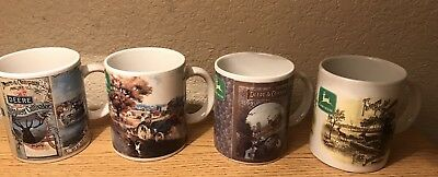 Gibson John Deere Coffee Cup Lot Of (4) - All Different