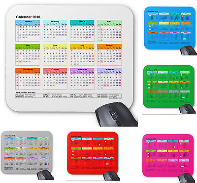 Mouse mat, Mouse pad 3mm Rubber Calendar 2018, gift