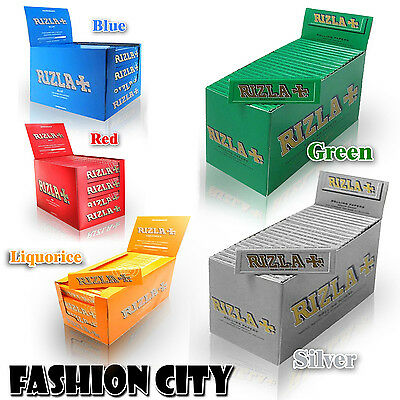 Rizzla+ Natural 5/Colours Small Smoking Rolling Papers (Full Box - 100 Booklets)