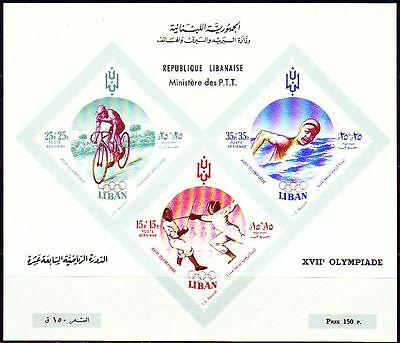Libanon Lebanon 1961 ** Bl.24 Olympische Spiele Olympic Games