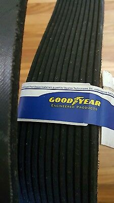 "Goodyear Engineered 540L12 POLY-V BELT, 12 Ribs, 0.38"" Height FACTORY NEW!"