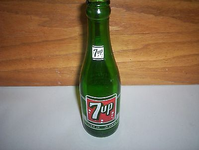"Vintage 7UP Soda Pop Bottle : 7oz 7-UP Chicago ""You Like It It Likes You"" : 8"""