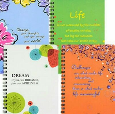 Inspirational Spiral Notebooks, 5x7 in.