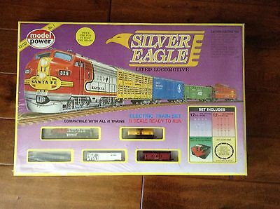 Model Power N Scale Silver Eagle Special Limited Edition Electric Train Set