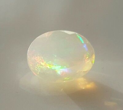 WaterfallGems Faceted Contra Luz Ethiopian Opal, 8x6mm, 0.63ct see details