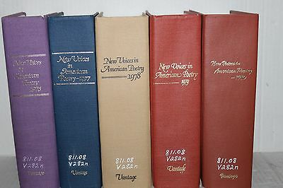 New Voices In American Poetry 1976 1977 1978 1979 and 1980 Books HC