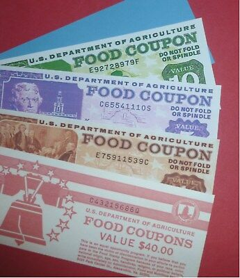 Novelty Food Stamp Book (Reprint)  (SHIPPING WILL NOT BE AVAILABLE DEC 9-16TH)