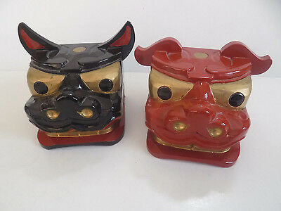 Chinese Wood Dragon Hand Puppets...Set of 2