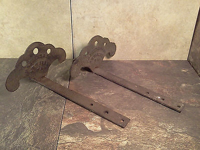 Antique Pair of Cast Iron Roof Guards - Ice Birds - Snow/Ice Protectant - GUC!