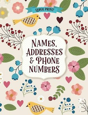 Large Print Names Address & Phone Numbers Book NEW FREE SHIPPING