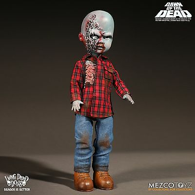 Living Dead Dolls Dawn of The Dead Plaid Shirt Zombie Mezco Damaged Box