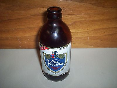 Vintage Carling O'Keefe Old Vienna OV 341ml Brown Stubby Lager Beer Bottle 6.5""