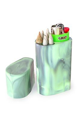 Smoke Space - Cigarette Case - Bic Lighter - Smoking Accessories - (Solid Black)