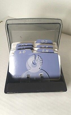 Rolodex Petite Covered Card Tray File W/ 6 Guides