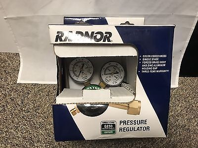 New Radnor G250-150-540 Medium Duty Oxygen Pressure Regulator 64003031 Green