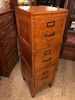 Early 1900s Oak Raised Panel Globe Wernicke Stack File Cabinet- Beautiful