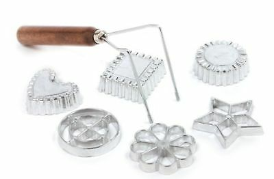 Timbale Rosette Iron Ware Double Nordic Molds Aluminum 7 Piece Set Patty Pastry