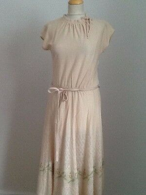 Knitted Tea Dress  1940s Style SIZE 12