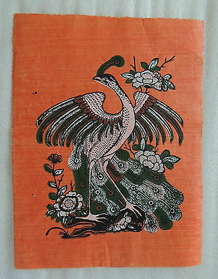 Traditional Vietnamese Folk DONG HO Painting: Peacock(26 × 34 cm)