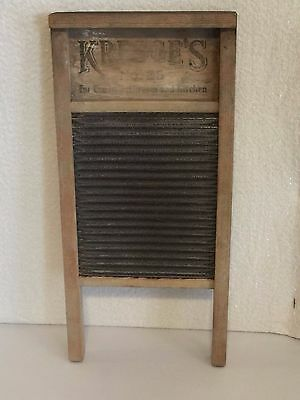 Vintage Kresge's Wooden Metal Washboard No. 25