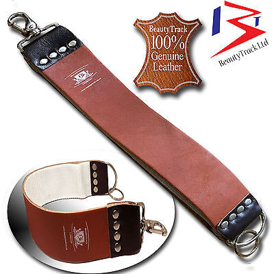 Genuine Leather Sharpening Strop Strap Belt Straight Cut Throat Shaving Rasoirs