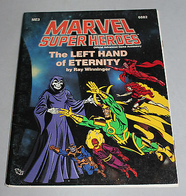 Marvel Super Heroes TSR Scenario The Left Hand Of Eternity ME3 6882  Complete