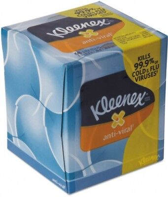 Kleenex® Anti-Viral Facial Tissue, 3-Ply, 68 Sheets/Box, 27 Boxes/Carton -