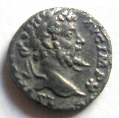 193-211 Septimus  Denarius  Sharp Vf  Authentic