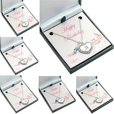 Birthstone Necklace for a Special Birthday, 16th, 18th, 21st, 30th, 40th, etc