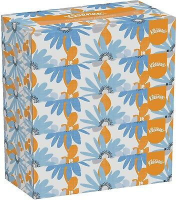 Kleenex® White Facial Tissue, 2-Ply, 100 Tissues/Box, 5 Boxes/Pack, 6 - 21005