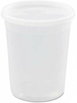 Microwavable Container Combo 4-1/2' Diameter 32 Oz - 240 Pack