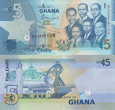 Ghana 5 Cedis (06.3.2013) - Big Six/Monuments/p38d UNC