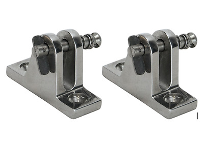 2 x Boat Canopy Fittings Quick Release Deck Mount Bimini Fittings 316 Stainless