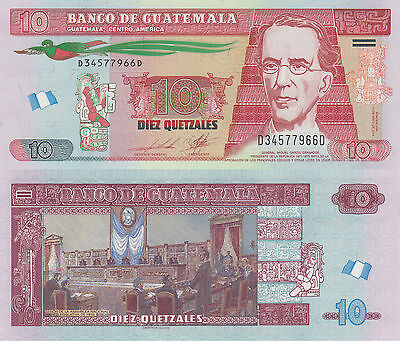 Guatemala 10 Quetzales (14.5.2014) -National Assembly/p123-New UNC