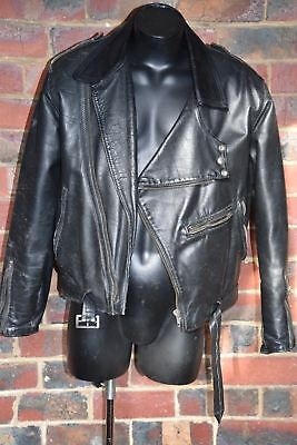 A&P Vintage Genuine Leather Motor Bike Jacket