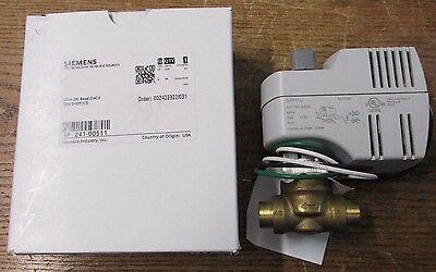 """NEW NOS Siemens 241-00511 2 Way Zone Valve Electric Actuator 1/2"""" Inch 2W 120V"""