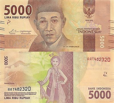 Indonesia 5000 Rupiah (2016) - New Series Issue/pNew UNC