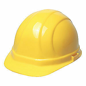 ERB SAFETY Hard Hat,4 pt. Ratchet,Ylw, 20002, Yellow