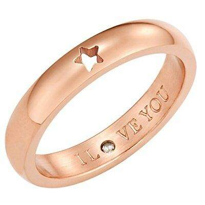 Secret Love Stones Star Ring engraved I Love You with CZ Rose Gold Tone by Ta...