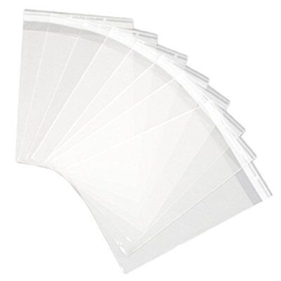 9x12 Inch Clear Resealable Cello Bags - Tape on Lip (Flap) Set of 100