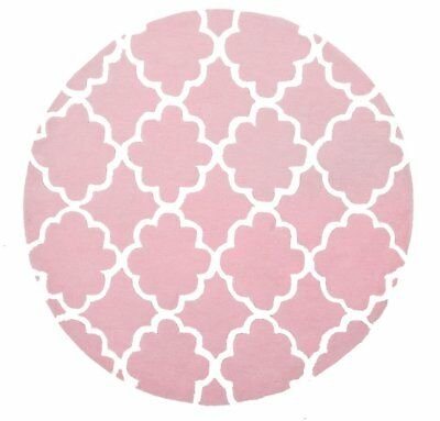 NEW Kids Trellis Design Pink Round Rug