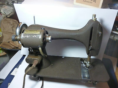 Antique The Eldredge  Reversew NATIONAL SEWING MACHINE ELECTRIC FOR PARTS OR USE