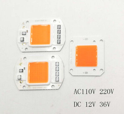 50W Full Spectrum LED COB chip DC12V 32V, Integrated Smart IC Driver 220V 110V