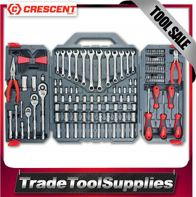 Crescent Tool Set Mechanics Kit 148 Piece 6Pt & 12Pt SAE/METRIC CTK148MP