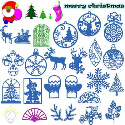 New Christmas Cutting Dies Stencil Scrapbooking Embossing Folder Album Decor